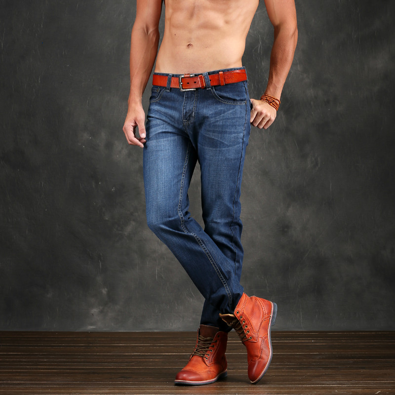 fb503ad91c Otoño Haren Pantalones Classic Blue Jeans Skinny Jeans Para Hombre Marca de  Ropa Para Hombre Denim Jeans Slim Fit Hombres Jeans Pantalones Rectos ...