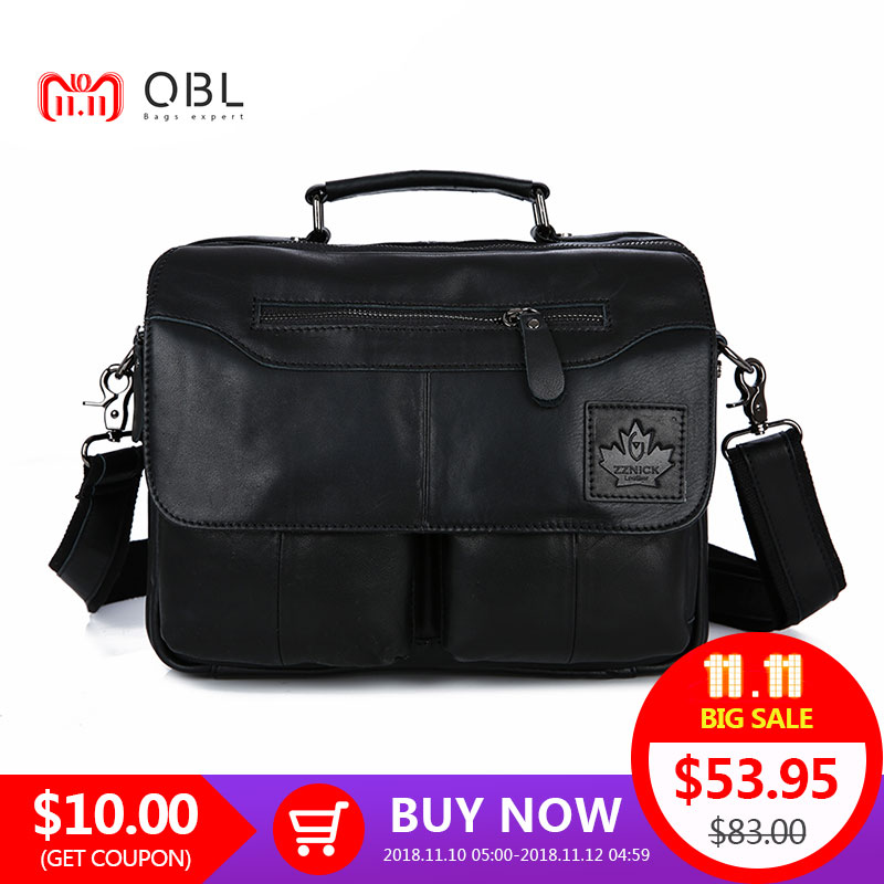 QiBoLu 2018 Cow Genuine Leather Handbag Men Messenger Shoulder Crossbody Bag Sacoche Homme Bolsa Masculina Bolso Hombre MBA70 qibolu handbag men bag briefcase business travel laptop messenger crossbody shoulder bag sacoche homme bolsa masculina mba17