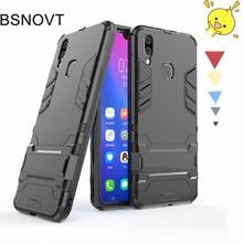 For VIVO X21 Case Silicone + Plastic Kickstand Phone Holder Anti-knock Vivo Cover 6.28 BSNOVT