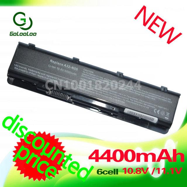 Golooloo batería del ordenador portátil para asus a32-n55 n45 n45e n45sf n55s n75s N55E N45SJ N55SL N75SL N75SF N75SJ N55SF N45J N45F N45SL N45SN