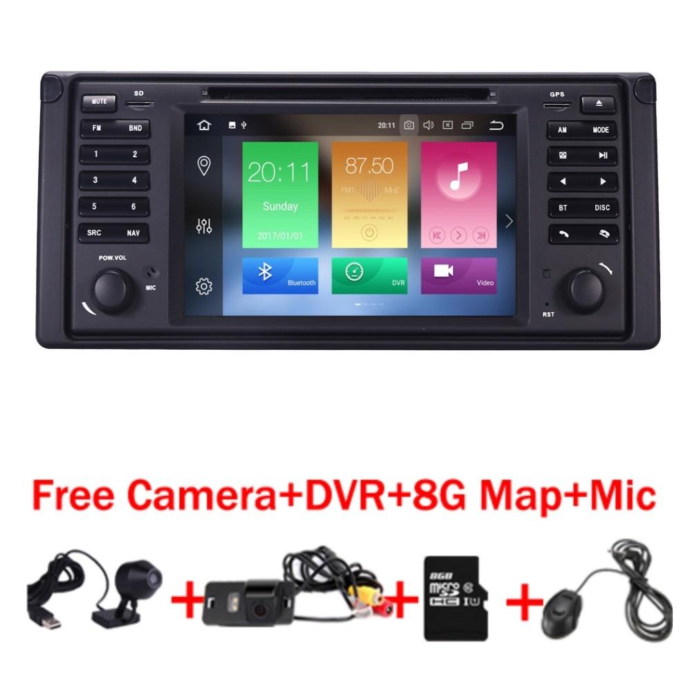 Android 8.0 Quad Core GPS Navigation 7 Lecteur DVD de Voiture pour BMW E39 5 Série 97-07 Gamme rover 02-05 avec Bluetooth RDS Canbus