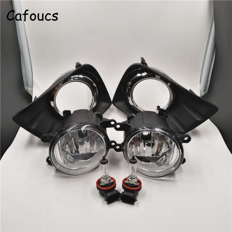 Cafoucs Car Front Fog Lights For Toyota Land Cruiser Prado FJ150 2010 2014 Fog Lamp and