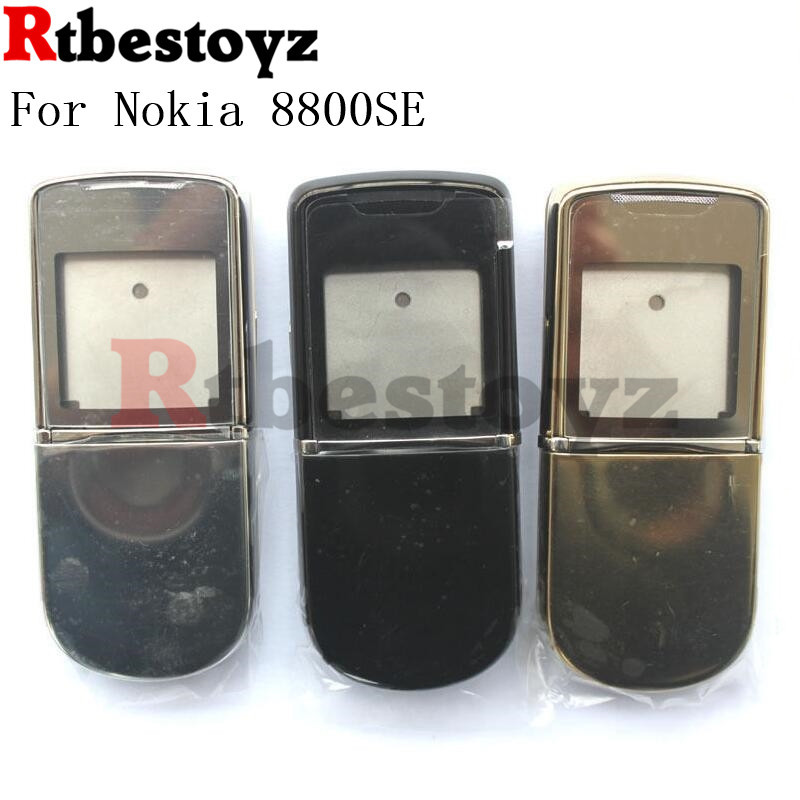 RTBESTOYZ For <font><b>Nokia</b></font> 8800SE <font><b>8800</b></font> Sirocco New Full Housing Cover Case With Keypad For <font><b>Nokia</b></font> 8800SE image