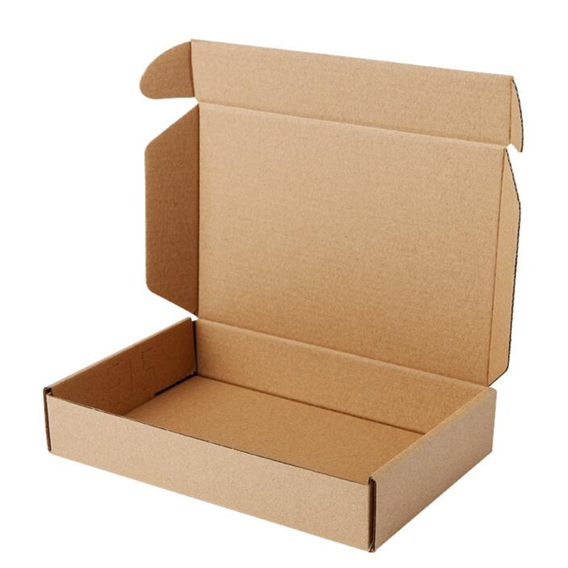 Image 2 - Retail 23*16*6cm 10pcs/lot Brown Paper Kraft Box Post Craft Pack Boxes Packaging Storage Kraft Paper Boxes Mailing Box PP774-in Gift Bags & Wrapping Supplies from Home & Garden