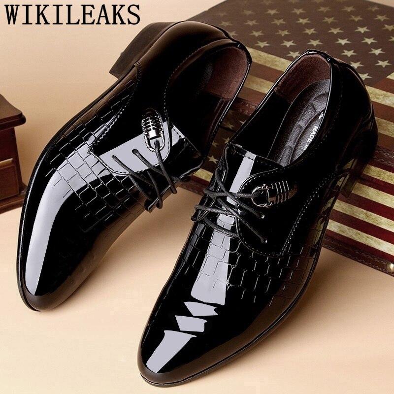 Designer Brand Crocodile Shoes Mens Dress Shoes Man Wedding Formal Shoes Men Calzado Hombre Heren Schoenen Zapatos Oxford Hombre