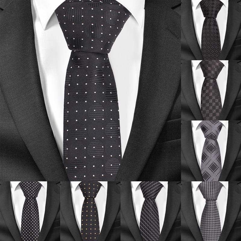 Classic Striped Neck Ties For Men Fashion Casual Plaid Slim Tie Gravatas Business Skinny Mens Neckties Corbatas Men Ties