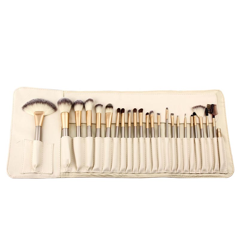 Professional Wool Fiber Foundation Blush Eyeliner Brush Set For Beauty Salon 2017 Aluminum Tube Wood Handle  Make Up Brushes