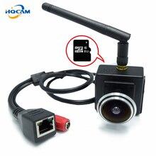 HQCAM mini caméra de Surveillance intérieure sans fil IP wifi 720P, grand Angle 1.78mm, avec port SD et carte SD