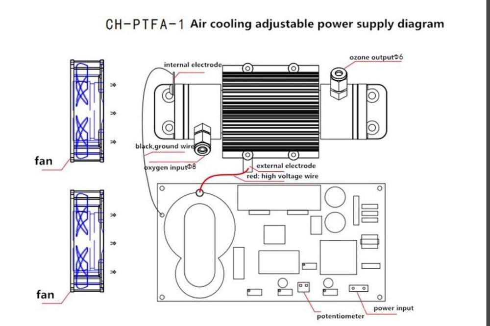 circuit diagram ozone generator
