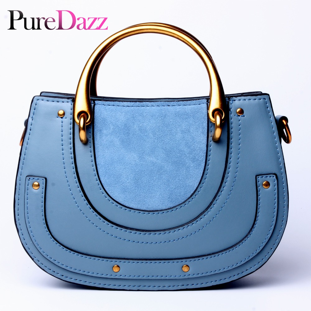 Fashion Brand Genuine Leather Women Saddle Bag Designer Real Leather Shoulder Bag Metal Handle Female Handbag Crossbody BagFashion Brand Genuine Leather Women Saddle Bag Designer Real Leather Shoulder Bag Metal Handle Female Handbag Crossbody Bag
