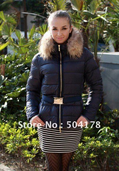 Ladies Down Coat Black White Brown Red Down Jackets For Women