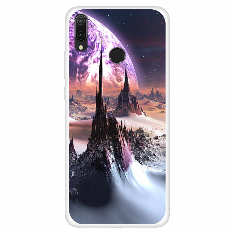 Accesorios Huawei P inteligente Y9 2019 honor 8X Max Nova 4 3 3i caso de silicona suave cubierta del TPU para Huawei mate 20 pro X lite P20 pro