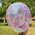 (2 unids/lote) Rosa Confeti Corazón Globos Globos | Boda Baby Shower party decor, éxito de la torta de 12 Pulgadas Bola