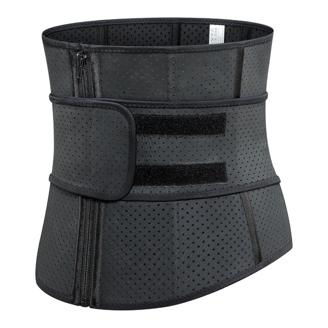Adjustable Sweat Waist Trainer Abdominal Belt High Compression Zipper Plus Size Latex Waist Cincher Corset Underbust Body Fajas 1