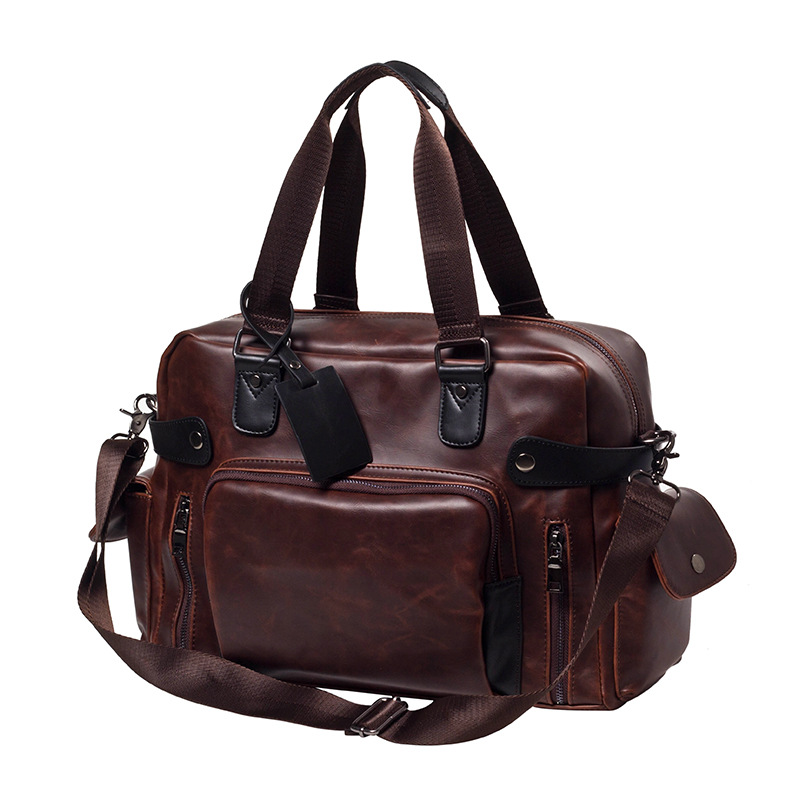 2017 Crazy Horse Leather Briefcase for Men Vintage Large Handbags Male Travel Business Tote Bags Men Shoulder Boston Bags Sac new male crazy horse leather handbags men s tote causal shoulder bag man business handbags vintage briefcase
