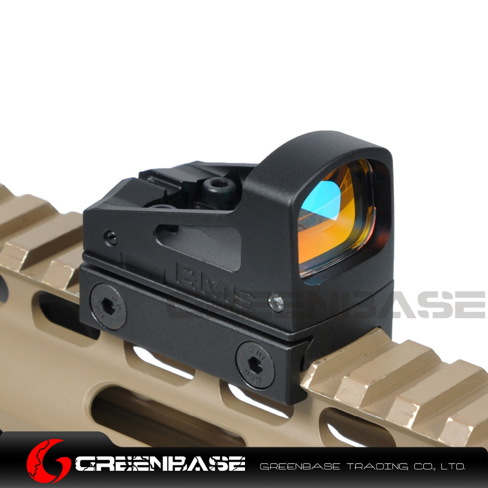 Greenbase Tactical Airsoft Glock Pistol RMS Reflex Mini Sight Red Dot Sight With Vented Mount and Spacers Hunting Reddot Scopes