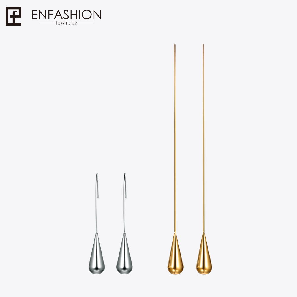 Enfashion Water Drop Shape Dangle Earrings Gold color Earings Drop Earrings For Women Long Earring Fashion Jewelry brinco men elastic waist drawstring striped pants