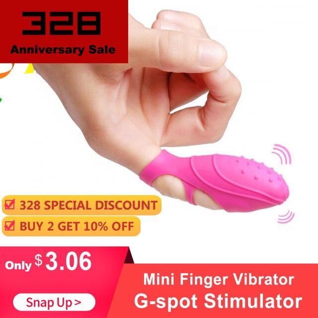 Mini Finger Vibrator Clitoral G-spot Stimulator Massager Vibrator  Waterproof Finger Clit Vibrator Sex Toys