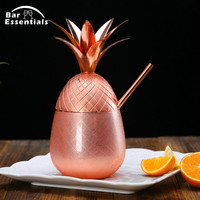Pineapple Tumbler copper Moscow Mule Mugs 900ml Beer Mug Stainless Steel Cup Cocktail Cup Wine Glass Drinking Bar Tool