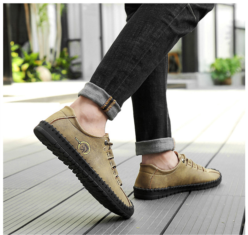 HTB1aSFfasfrK1RkSnb4q6xHRFXar - 2019 New Fashion Leather Spring Casual Shoes Men's Shoes Handmade Vintage Loafers Men Flats Hot Sale Moccasins Sneakers Big Size