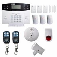 LESHP Wireless LCD GSM Autodial SMS House Office Security Burglar Intruder Alarm Set GSM Alarm Control