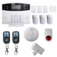 LESHP Wireless LCD GSM Autodial SMS House Office Security Burglar Intruder Alarm Set GSM Alarm Control