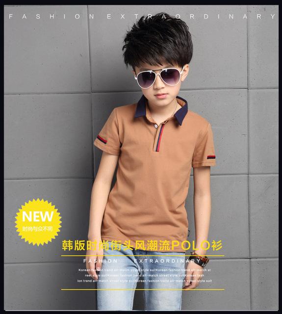 6-15 anos marca de verão dos miúdos das crianças meninos t shirt de algodão de manga curta t camisas dos miúdos das crianças meninos t camisas