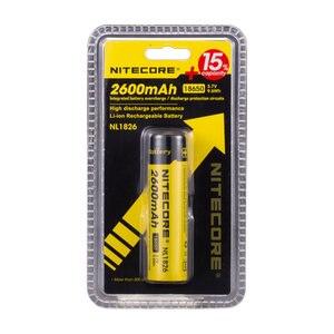 Image 5 - Original Nitecore NL1826 2600mAh 18650 3.7V Max 2A 18650 Rechargeable Li ion battery (NL186) for LED Flashlight