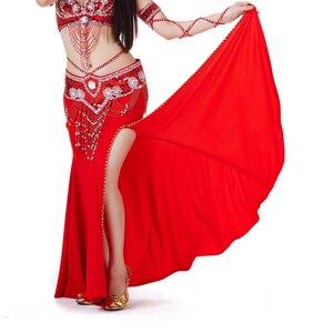 Image 5 - 2018 Vrouwen Buikdans Kostuum Professionele Optredens Split Rok Jurk Oosterse Dansen Clothing12 Kleur