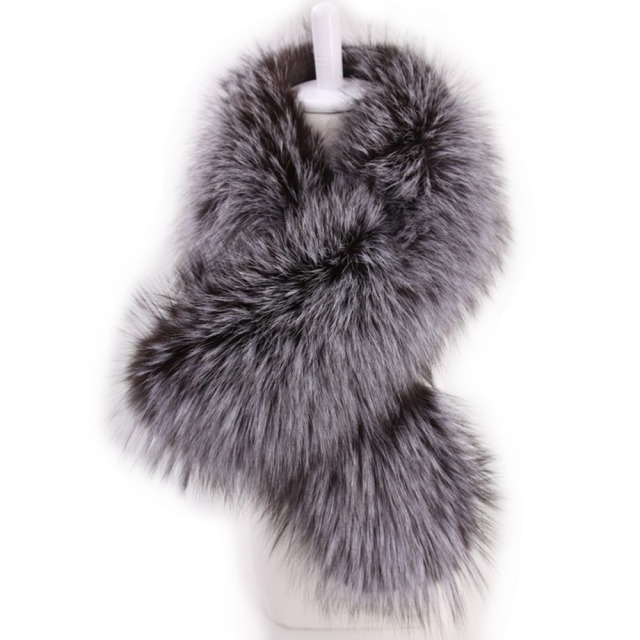 Solid Long Fur Scarf | Neck Scarves | Up to 60% Off Now