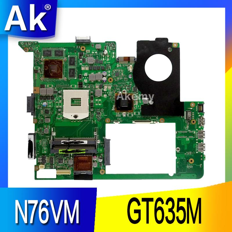 AK N76VM Laptop motherboard for ASUS N76VM N76VZ N76VJ N76V Test original mainboard GT630M/635M-in Motherboards from Computer & Office    1