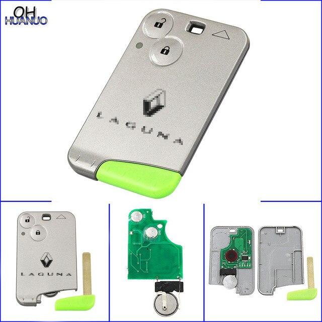 2 botão Smart Card Chip Remoto Chave Fob Para Laguna 433 mhz ID46 PCF7947
