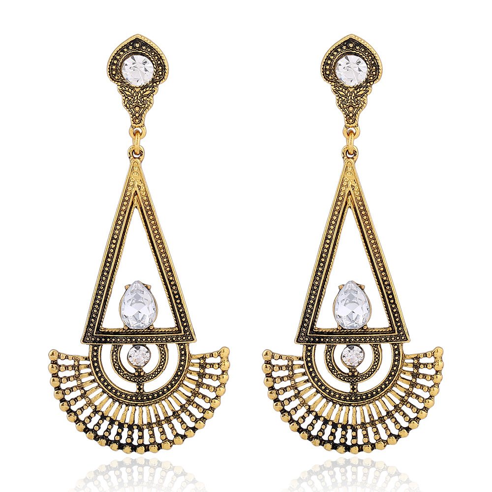 Triangle Earrings: Aliexpress.com : Buy Vintage Triangle Crystal Dangle