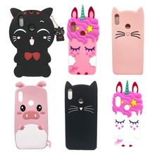 For Huawei Honor 8X Case Soft Silicone Cartoon Lucky Cat Unicorn Cover 6.5 Housing Phone Honor8X Coque