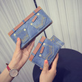 2016 New Fashion Women Wallet Ladies Long & Short Wallets Leather Jean Wallet Coin Purse Girl Card Holder Clutch Bag