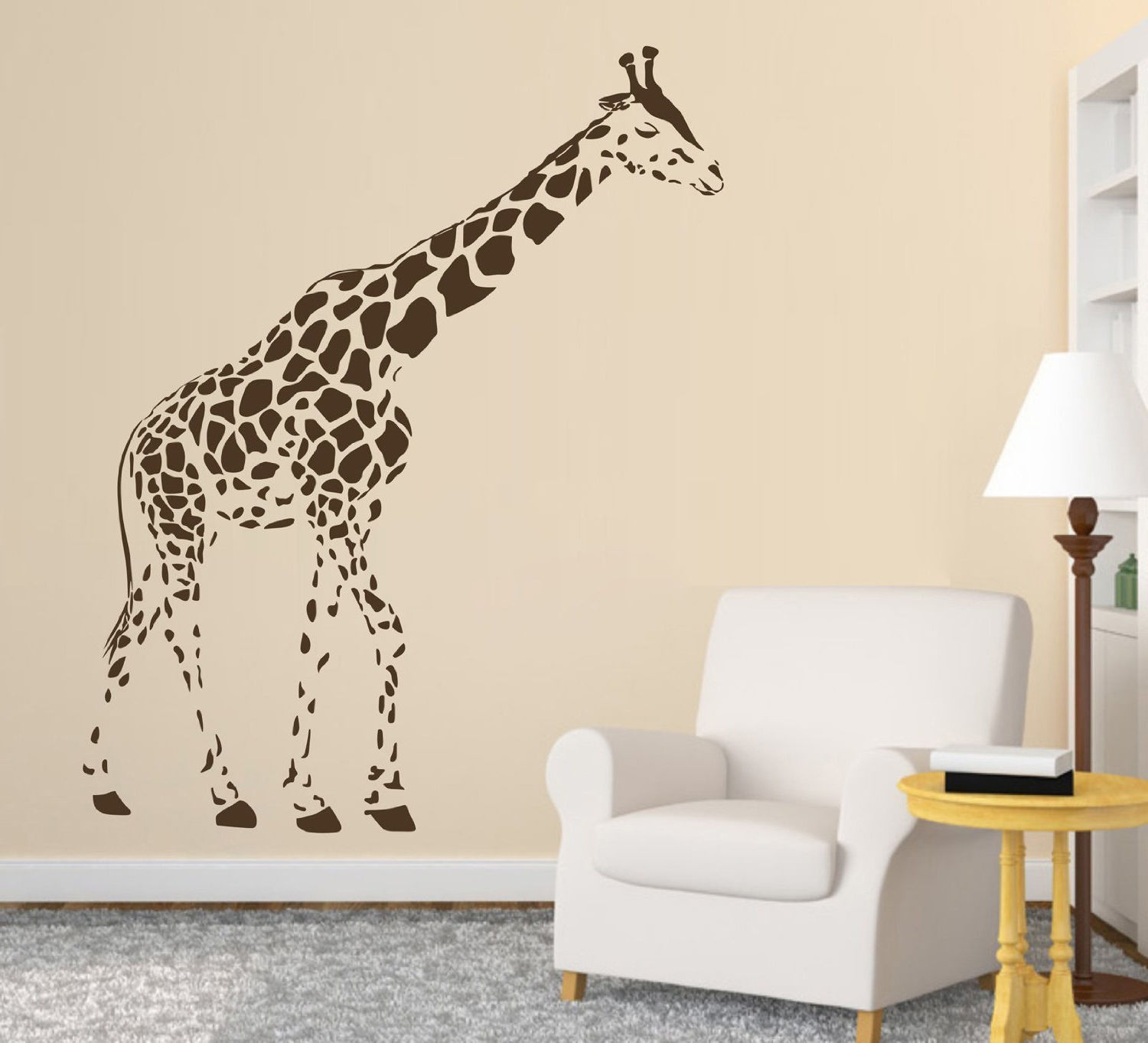 C083 Vente Grande Girafe Stickers Muraux Animaux Decal Art Enfants