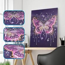 Алмаз особенной формы картина с изображением милой бабочки Diy картина с алмазной вышивкой со стразами, ручная работа, Наборы декорация для дома с животными