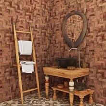 chinese style 3d retro imitation bamboo mat straw wallpaper living room sofa study backdrop wall covering