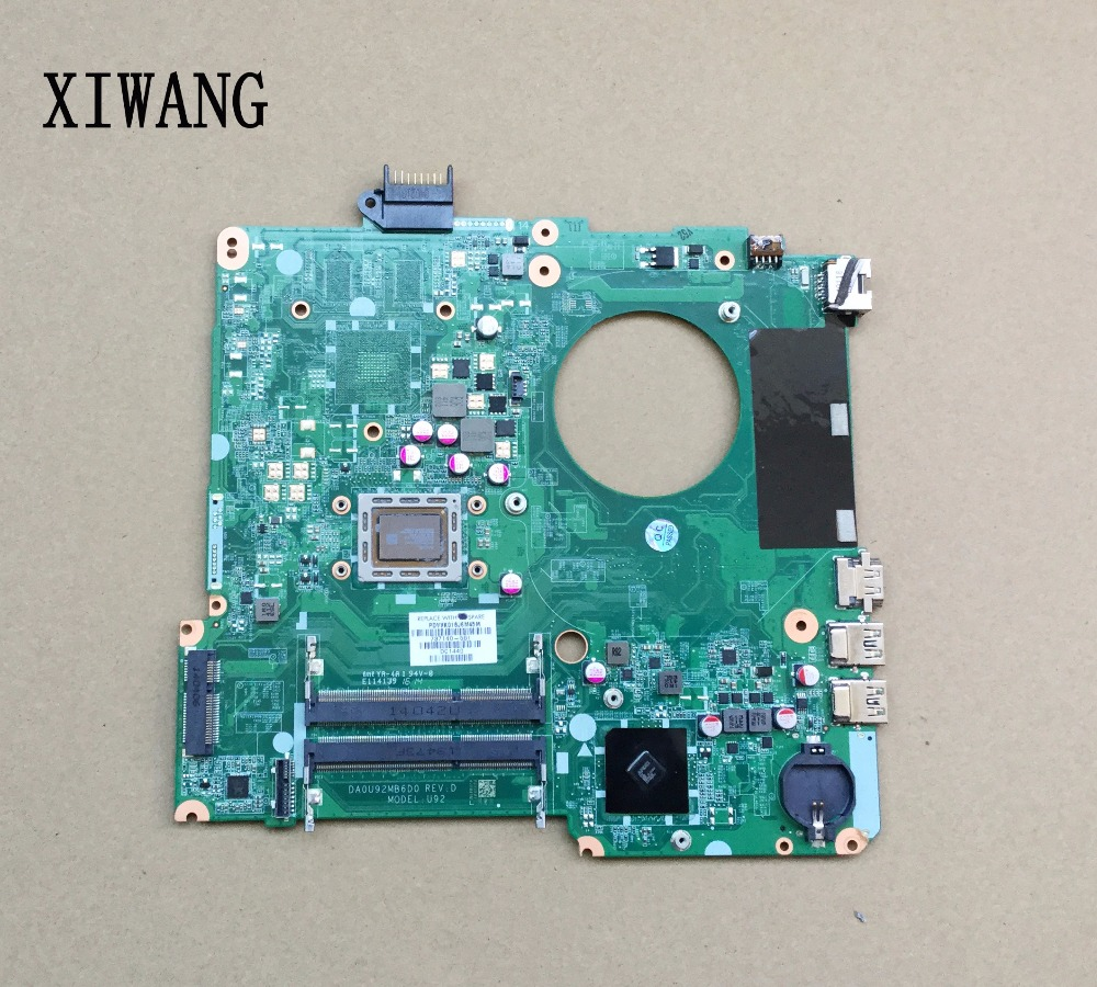 734829-501 734829-001 Free Shipping 734829-601 For HP Pavilion 15-N 15-N013DX Motherboard DA0U92MB6D0 100%tested&fully work 736822 501 free shipping for hp 14 n series laptop motherboard da0u92mb6d0 rev d a8 4555m cpu 736822 001 100% fully tested
