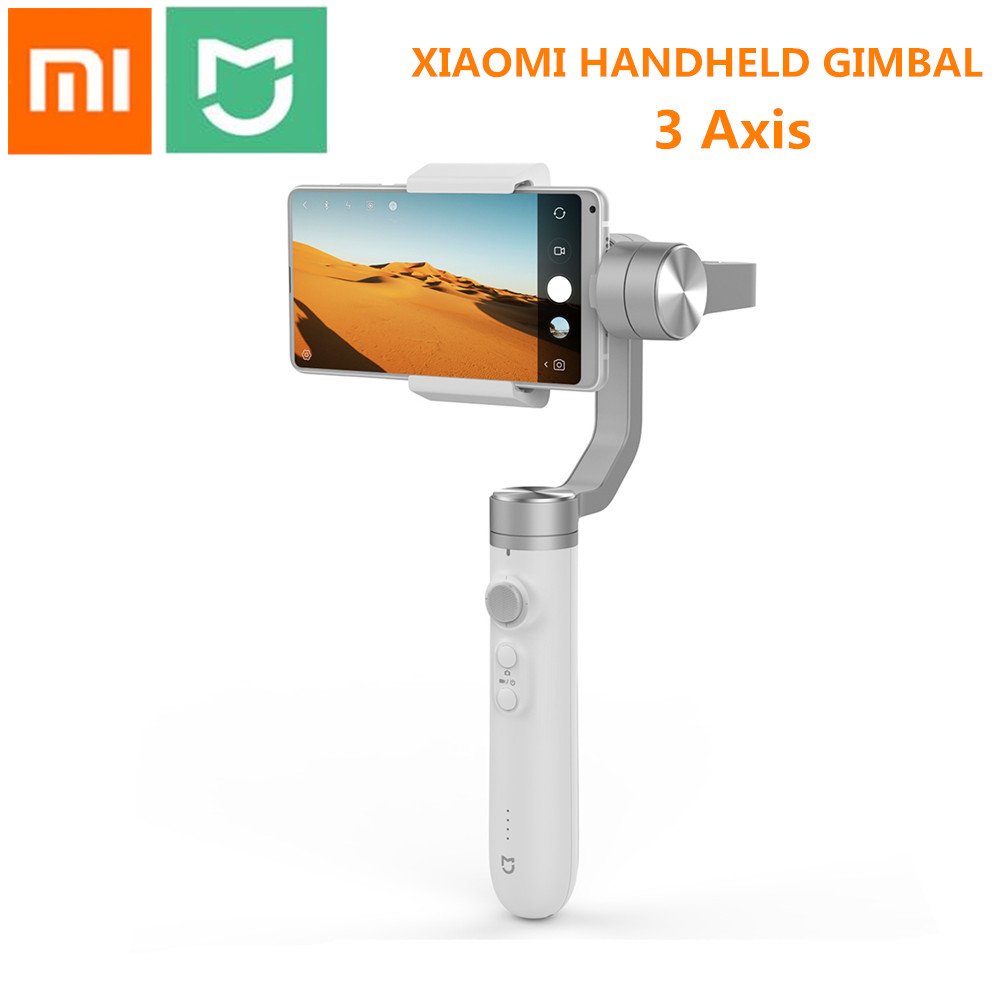 Xiaomi Mijia SJYT01FM 3 Axis Handheld Gimbal Stabilizer with 5000mAh Battery for Action Camera and Phone new xiaomi mi consumer camera handheld gimbal 3 axis brushless gimbals stabilizer operation time 16 hours for mijia mini sports