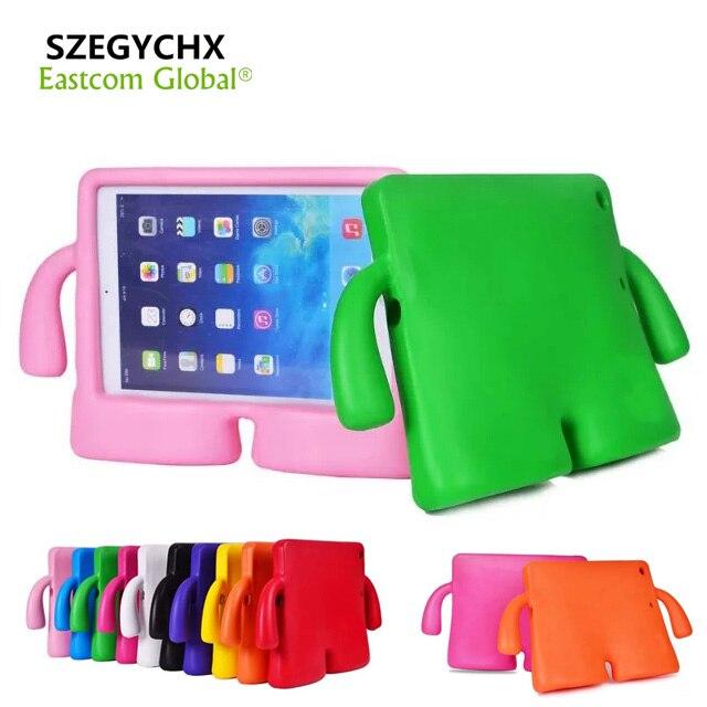 SZEGYCHX Tablet Cas Pour iPad Air 1/Air 2 Cas Silicone Épais mousse Antichoc Souple Stand 3D Mignon de Bande Dessinée Enfants De Couverture & Pen