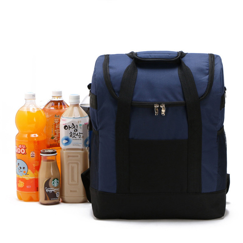 25L Lunch Bags Cooler Insulated for Women Kids Thermal Bag Lunchbox Food Picnic Tote Handbags Red Navy
