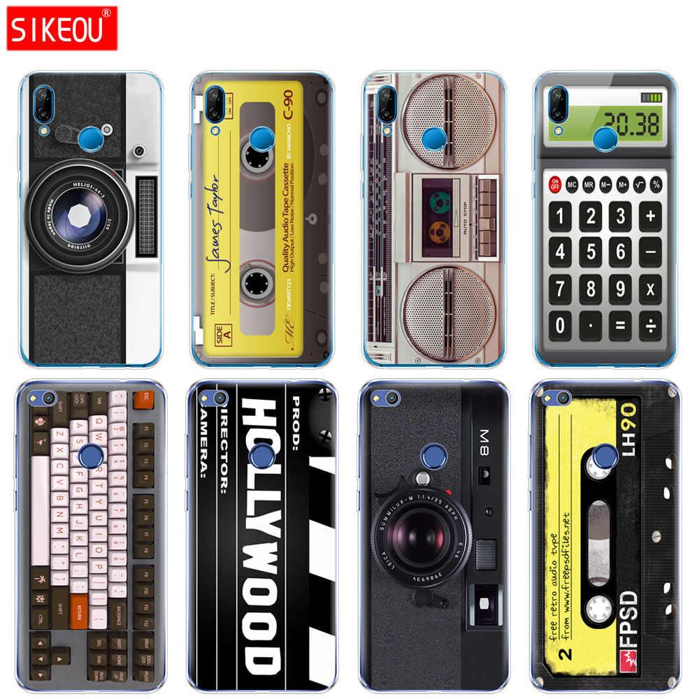 Coque Silicone pour Huawei P20 P7 P8 P9 P10 Lite Plus Pro 2017 p smart 2018 cassettes Boombox clavier