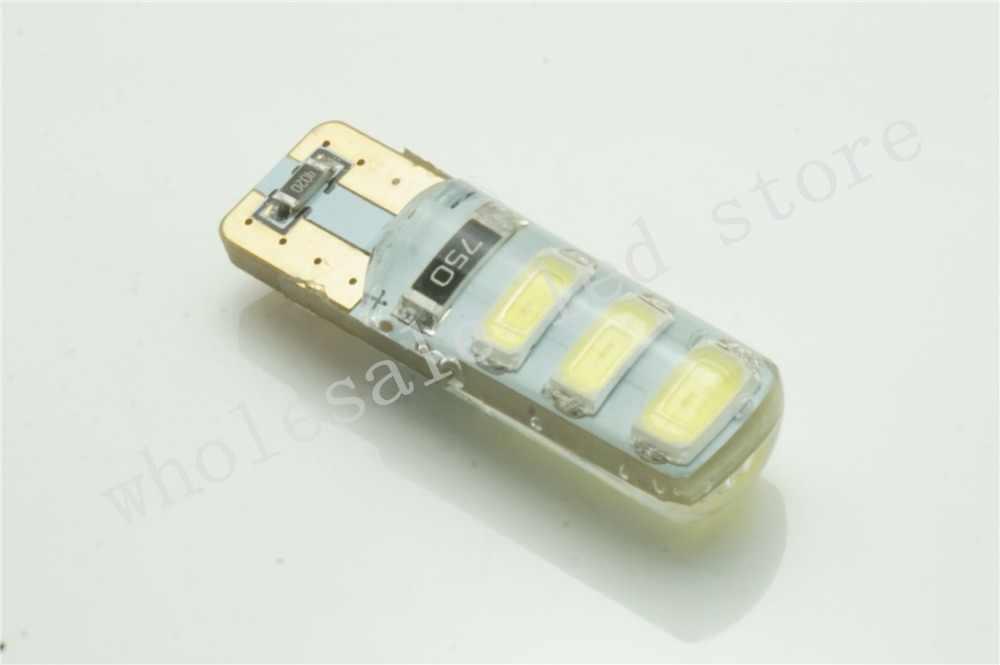 10X Автомобильный светодиодный T10 194 W5W Canbus 6SMD 5630 + силиконовая оболочка светодиодные лампы Нет Ошибка светодиодный парковочные противотуманные огни авто без ошибок авто-Стайлинг
