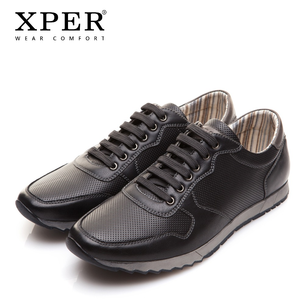 XPER Brand New Fashion Spring Autumn Men Leather Casual Shoes Walking Sneakers Shoes Wear Comfortable Male Shoes XAF86910 spring autumn quality genuine leather casual sneakers men shoes male walking brand comfortable non slip footwear 2018