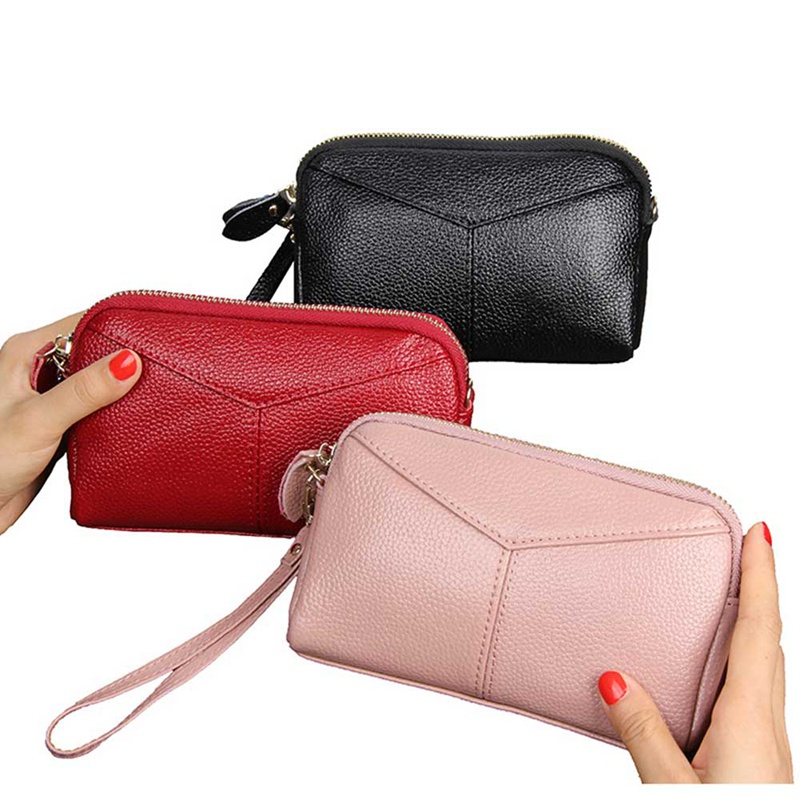 Womens Ladies Designer Phone Pouch Zip Long Coin Purse Wallet Card Holder Purses