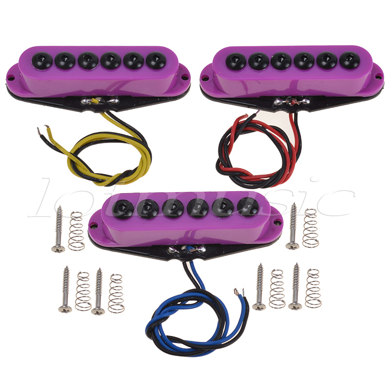 Electric Guitar Pickups Red Brown Cream Purple Single Coil Guitar Parts Accessories Neck Middle Bridge Set belcat electric guitar pickups humbucker double coil pickup guitar parts accessories bridge neck set alnico 5 gold