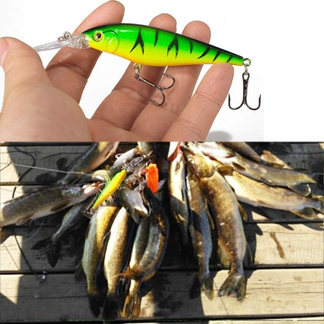 SEALURER Cá thu hút 1 pcs Pike Bait Minnow 11 cm 10.5g Jerkbait Sâu Bơi Wobblers Crankbait