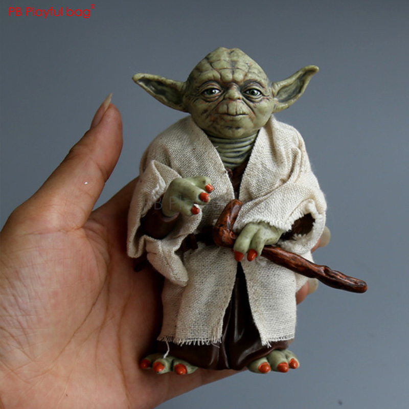 12CM Master Yod Figure Star War character movable Model Toys PVC collectible Action Figure Movie Peripherals Children Toys HB56 1