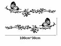 1 Par Moda Personalidad Coche Pegatinas Creativas Flores Mariposa Hermosa Creativa Tatuajes Impermeable Auto Tuning Styling